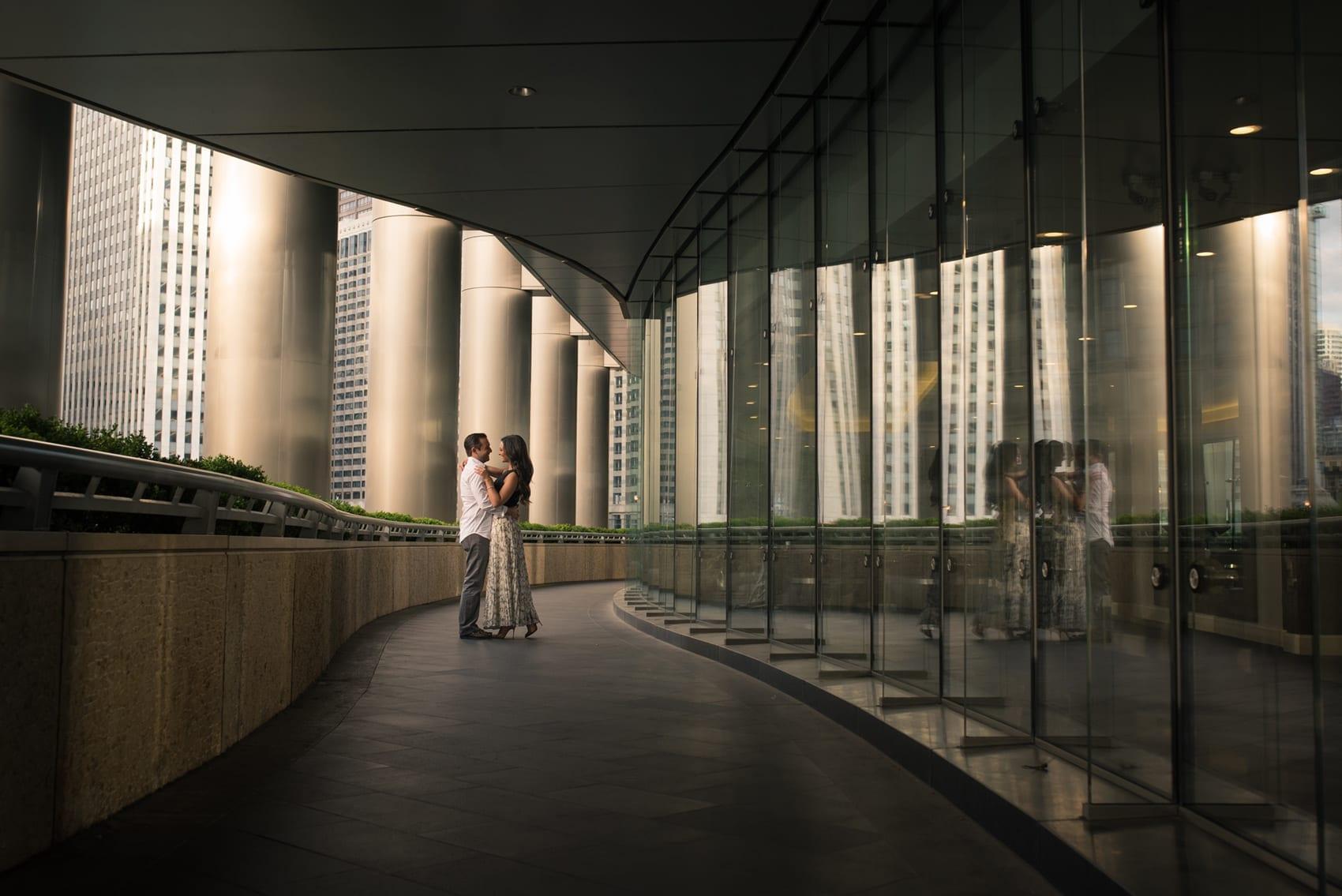 Thara Photo Chicago Engagement Photographer Trump Tower Wedding